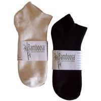 Adult Ankle Sock Black & Natural
