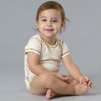 Organic Short Sleeve Bodysuit - Ivory